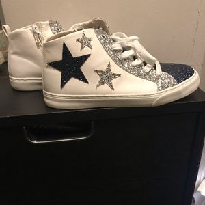 🛍2/$40 Gap girls sparkly stars high top sneakers
